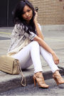 white jeans - beige Payless shoes