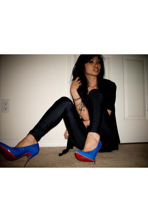 top - American Apparel - Christian Louboutin shoes