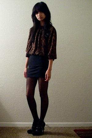 Jenni Kayne-esque blouse - f21 skirt - Colin Stuart boots