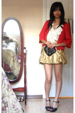 Ann Taylor Loft jacket - f21 blouse - By my Mommy skirt - Classy Trash Closet pu