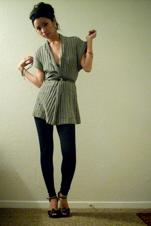 f21 sweater - f21 tights - f21 accessories
