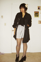 Forever 21 skirt - Gap blouse - Aziz coat