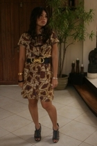 dress - cotton on belt - Matthews shoes - Rustans accessories