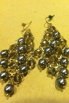 glass and pearl francescas earrings