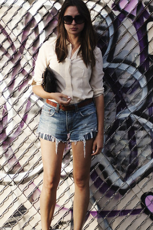 menswear Levis shorts - loeffler randall purse - Trina Turk sunglasses