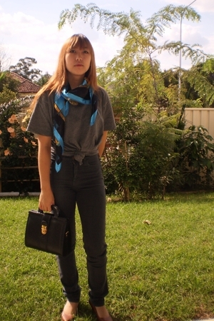 shirt - Salvos scarf - jeans - Salvos purse
