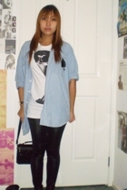 top - Nevereverland band shirt shirt - tights - accessories - Polaroid accessori
