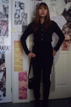 jacket - blouse - pants - tony bianco boots