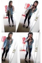Guess jacket - calvin klein shoes - purse - Target Australia leggings - scarf