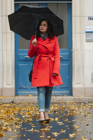 red J Crew coat