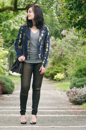 navy Sezane jacket