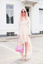 pink Rebecca Minkoff bag - peach Urban Outfitters dress - white Zara blouse