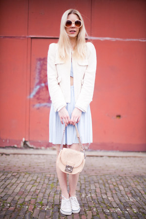 Zara jacket - stylestalker dress - Lucette bag - Converse sneakers
