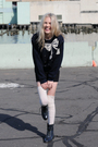 Black-american-apparel-dress-vintage-sweater-pink-diy-h-m-socks-roper-boot