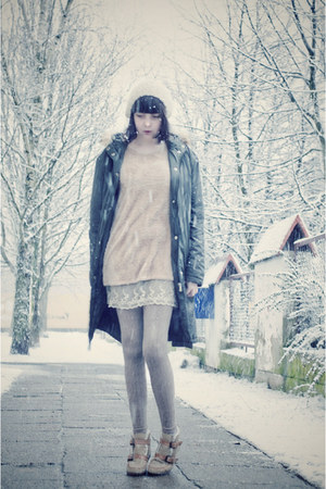 calvin klein coat - Zara hat - sammydress sweater