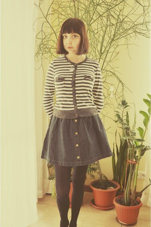 Stradivarius skirt - Zara cardigan