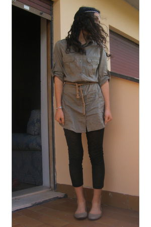green Zara shirt - beige BLANCO shoes