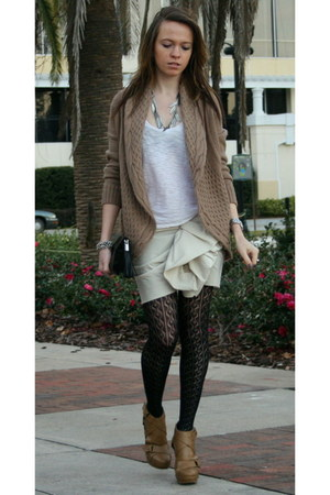 Lanvin for H&M skirt - American Apparel t-shirt - f21 tights