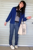 vintage sweater - Friends of Couture sweater - Lee Jeans jeans - Sportsgirl shoe