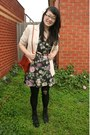 Black-combat-boots-roc-boots-black-floral-print-cotton-on-dress-cream-thrift