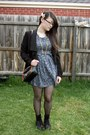 Black-bardot-blazer-navy-dont-ask-amanda-dress-black-kmart-tights-navy-ann