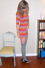 Heather-gray-thrifted-vintage-dress-heather-gray-betsey-johnson-socks-tan-ki