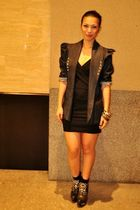Reian Mata blazer - black Reian Mata dress - black Jeffrey Campbell shoes - Prom