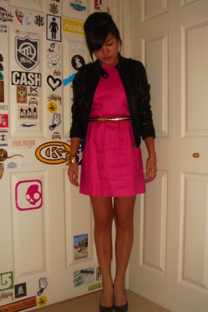 vintage dress - H&M jacket - Oscar de la Renta shoes