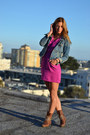 Brown-studded-asos-boots-magenta-urban-outfitters-dress