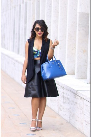 leather asos skirt