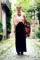 black Steve Madden shoes - brown HoBo International bag - neutral Hallelu top -
