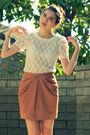 Pink-h-m-skirt-white-forever-21-top-black-steve-madden-shoes