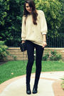 black Hudson jeans - black Crossroads Trading Co shoes - beige storets sweater