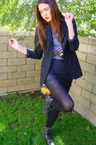 Zara blazer - Urban Outfitters shirt - Forever 21 skirt - Steve Madden boots