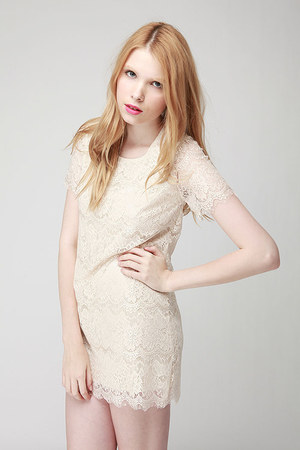 lace shift Jane dress