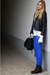 electric blue rag&bone jeans - power shoulder jacket - Ralph Lauren bag