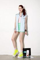 chiffon top - spike shirt - chiffon skirt