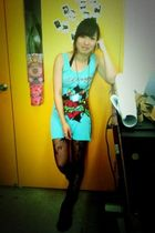 blue Ed Hardy dress