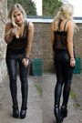 Black-fake-balenciga-ebay-boots-black-leather-trouser-topshop-leggings