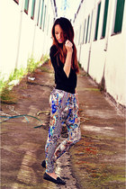 navy harem baggy VJ Style pants