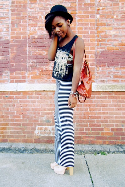 striped maxi skirt - beige lita-inspired heels