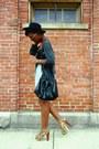 Navy-wide-brimmed-hat-black-bag-dark-brown-leopard-print-heels
