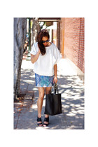 H&M skirt - Celine sunglasses - black buckles Aldo sandals