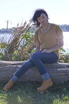 Charlotte Russe shirt - Jeffrey Campbell shoes - silence and noise jeans