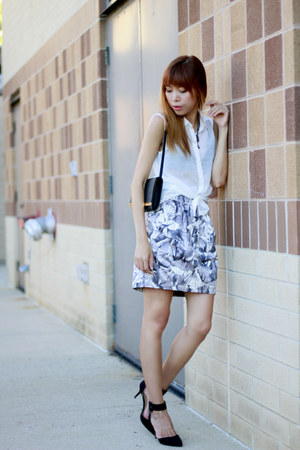 H&M top - Michael Kors bag - bcbg max azria skirt - Zara heels