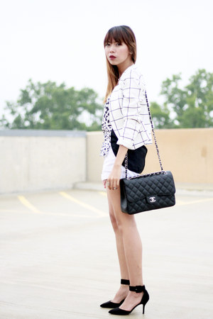 H&M top - Zara shoes - H&M blazer - Chanel bag