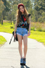 Wildpair-shoes-skull-yesstyle-bag-denim-yesstyle-shorts