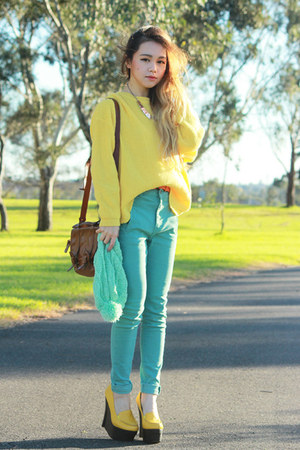 Jeffrey Campbell wedges - Yesstyle jeans - Yesstyle sweater