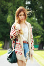 Roxy-cardigan-beige-lita-jeffrey-campbell-boots-forest-green-h-m-bag