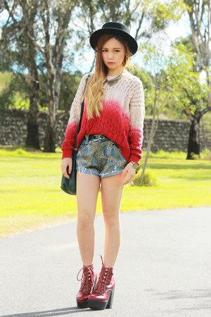 Jeffrey Campbell boots - Oneteaspoon shorts - MinkPink jumper